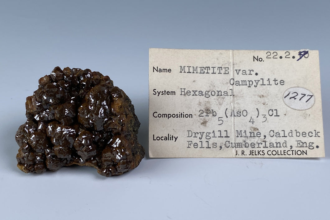 Mimetite from Dry Gill Mine, Caldbeck Fells, Cumberland, England