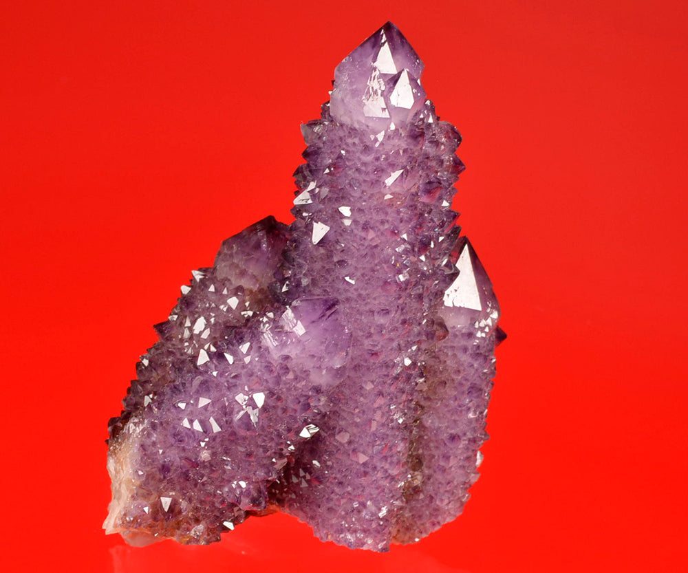Quartz var. Amethyst from Maqaliesberg Mtns.,  Pretoria, South Africa