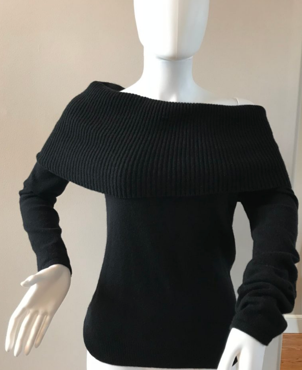 Cashmere Off the Shoulder Sweater