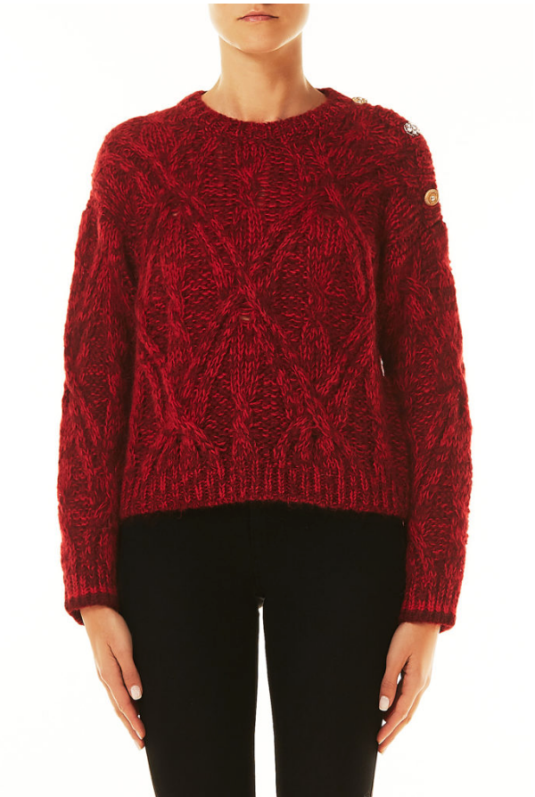 Red Button Sweater