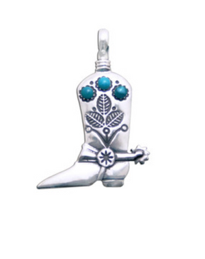 Turquoise Boot Pendant