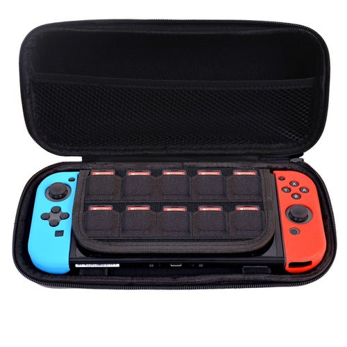 Protective Hard Portable Travel Bag Shell Pouch for Nintendo Switch - Black
