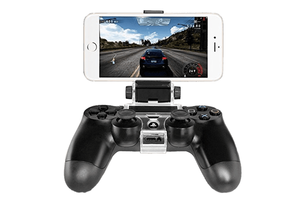 New Phone Clamp Mount Bracket Holder for Playstation 4 PS4 Controller Gamepad - Black