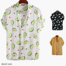 Load image into Gallery viewer, RLDN Vintage Graphic Avocado Summer Shirt