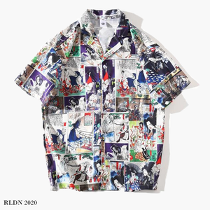 RLDN Streetwear Comic Book Style Summer Shirt