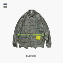 Load image into Gallery viewer, RLDN Long Sleeve Streetwear Loose Plaid Shirt