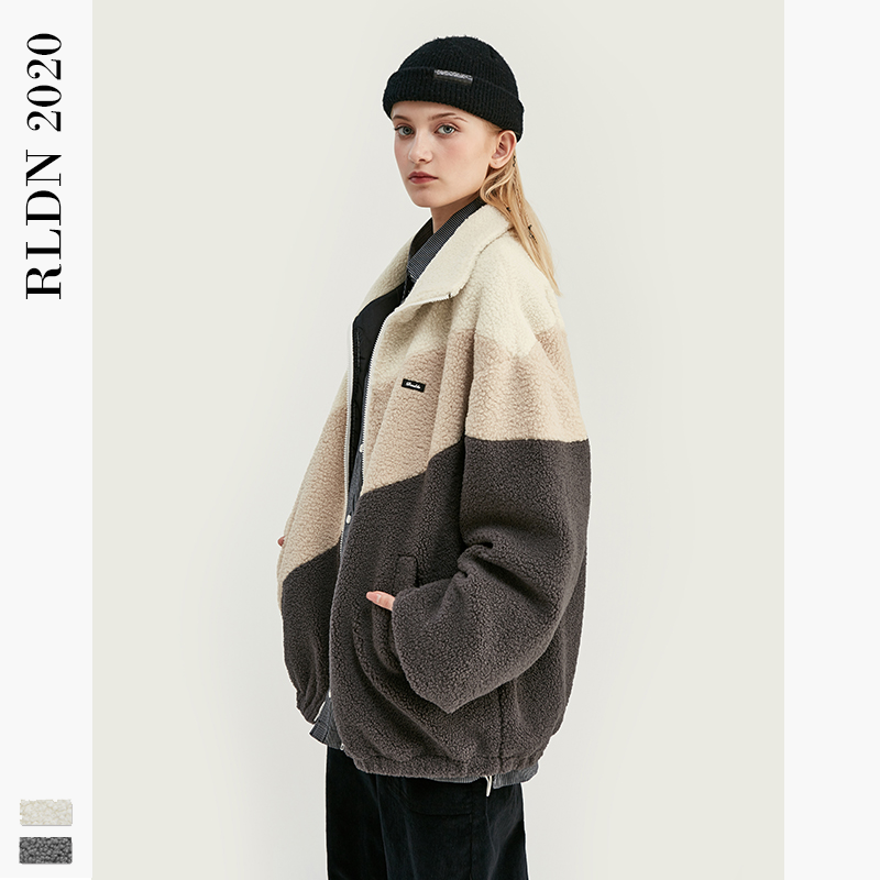 RLDN Vintage Oversized Polar Fleece Jacket