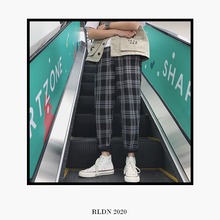 Load image into Gallery viewer, RLDN Urban Casual Plaid Slim-Fit Joggers