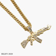 Load image into Gallery viewer, RLDN Streetwear Iced Out Gun Necklace/Chain