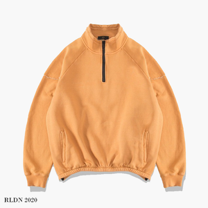 RLDN Plain Casual Half-Zip Sweatshirt
