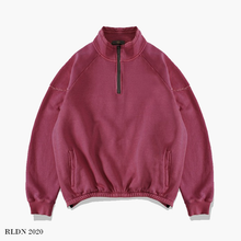 Load image into Gallery viewer, RLDN Plain Casual Half-Zip Sweatshirt