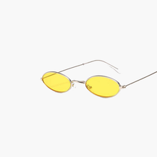 Load image into Gallery viewer, RLDN Retro Small Oval Sunglasses