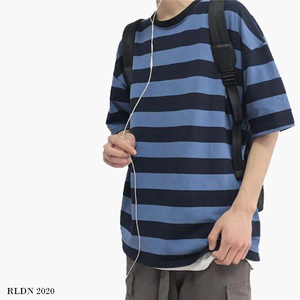 RLDN Streetwear Aesthetic Striped T-Shirt