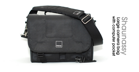 "Shaughnessy - Large Camera bag with 15"" padded internal computer pocket"