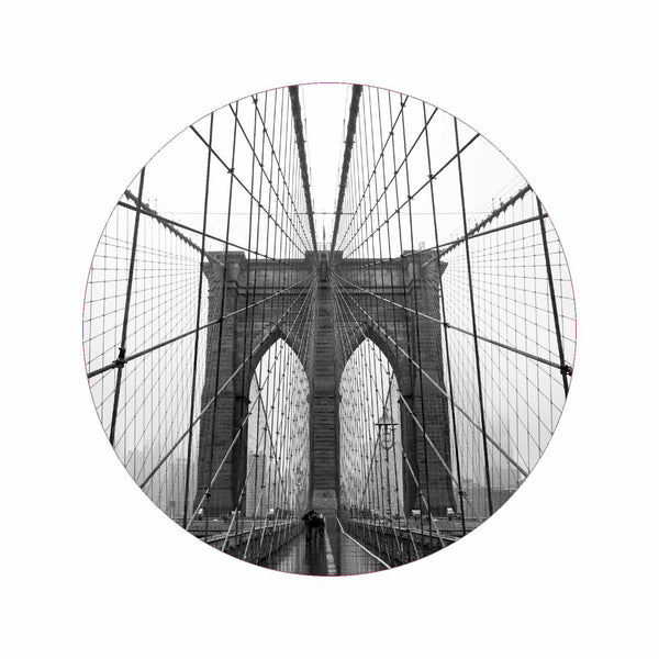 Motiv Brooklyn Bridge für runde Bilderrahmen