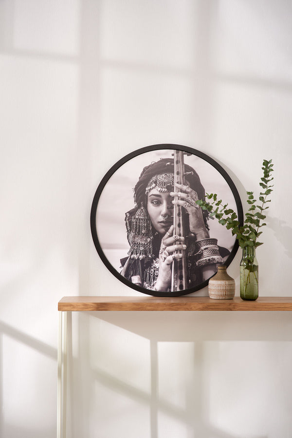 Boho Woman with picture frame