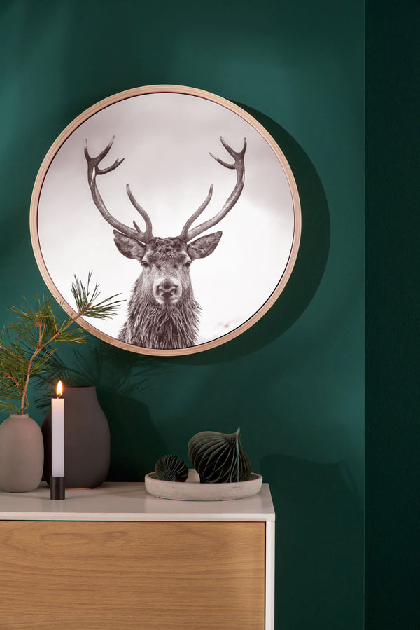 Dark Deer with picture frame