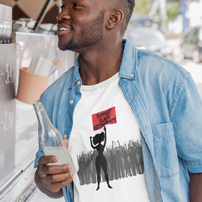 Support Black Restaurants Unisex Jersey Short Sleeve Tee