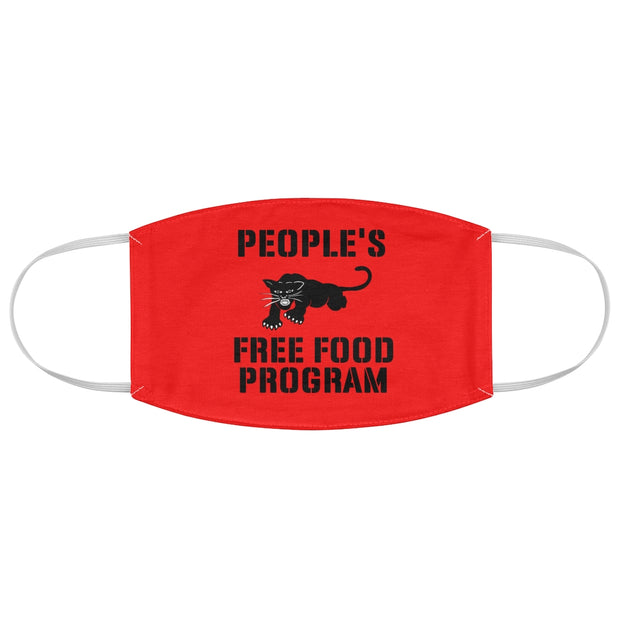 Red Free Food Program Fabric Face Mask
