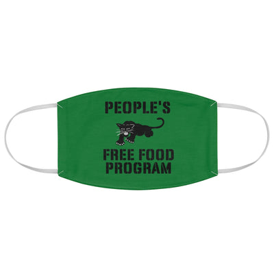 Green Free Food Program Fabric Face Mask