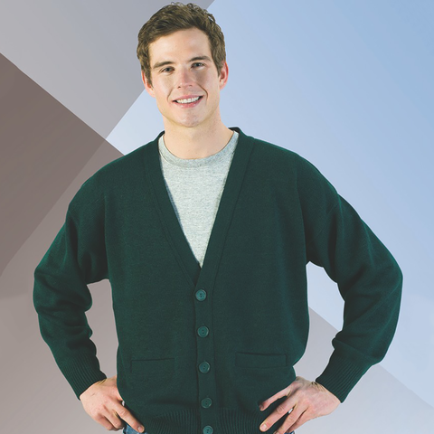 2 Pocket V-Neck Cardigan (Unisex)