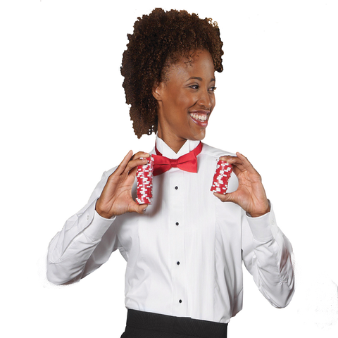 Women's Wing Collar Tuxedo Shirt