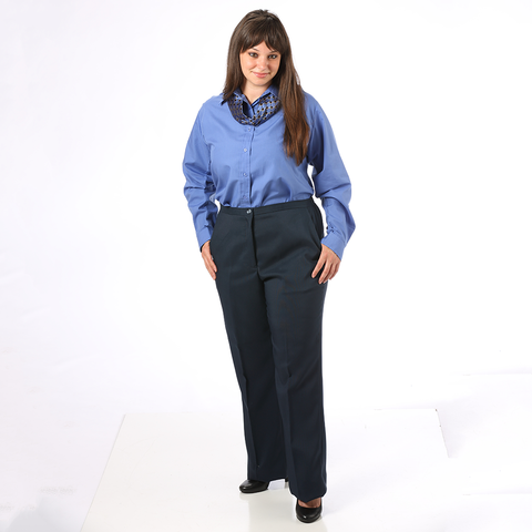 Women's  Flat Classic Dress Pants