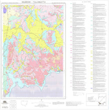 Load image into Gallery viewer, Soil Landscapes of the Holbrook-Tallangatta 1:100 000 Sheets map