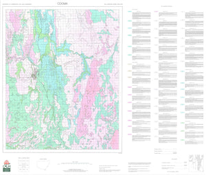 Soil Landscapes of the Cooma 1:100 000 Sheet map