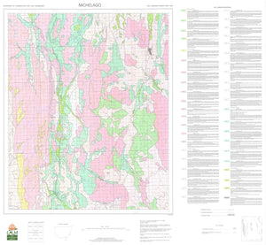 Soil Landscapes of the Michelago 1:100 000 Sheet map