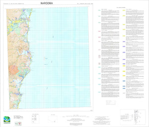 Soil Landscapes of the Narooma 1:100 000 Sheet map