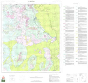 Soil Landscapes of the Curlewis 1:100 000 Sheet map