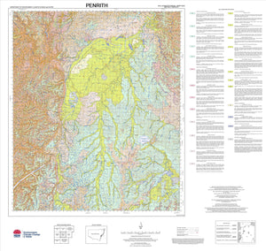 Soil Landscapes of the Penrith 1:100 000 Sheet map