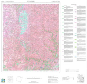 Soil Landscapes of the St Albans 1:100 000 Sheet map