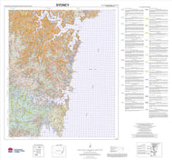 Soil Landscapes of the Sydney 1:100 000 Sheet map