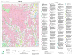 Soil Landscapes of the Dungog 1:100 000 Sheet map