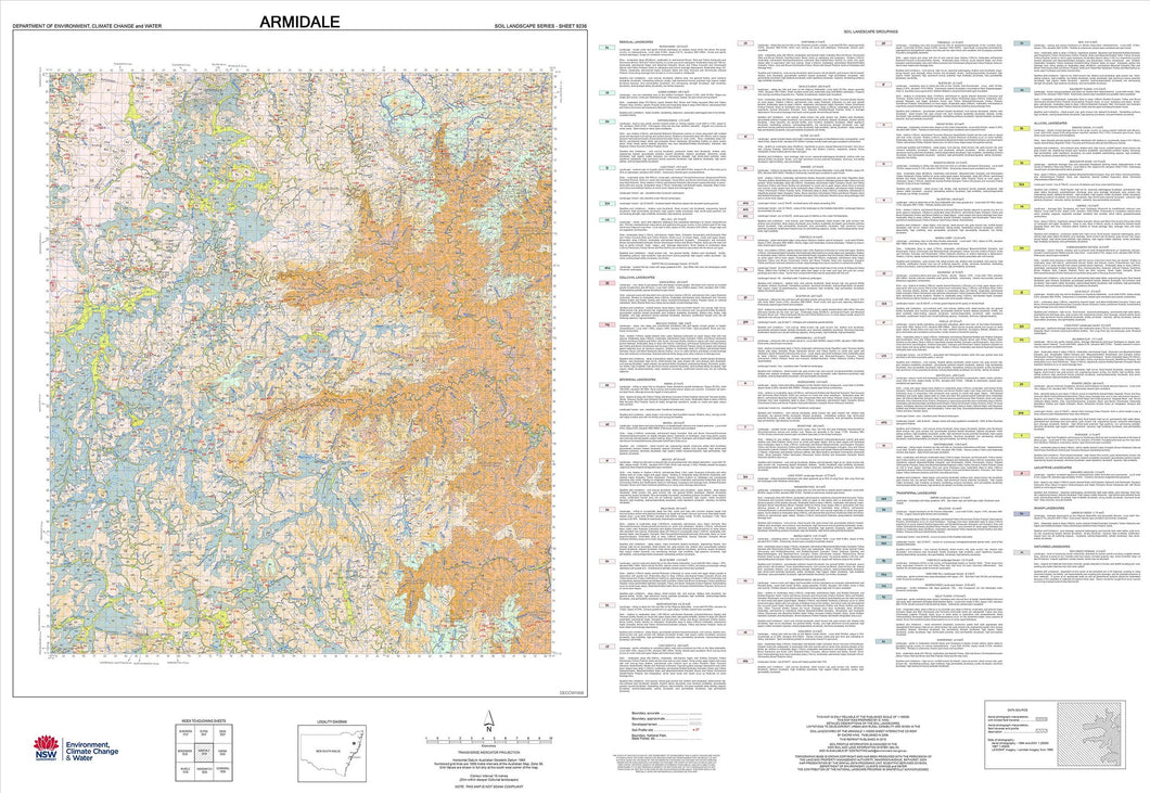 Soil Landscapes of the Armidale 1:100 000 Sheet map