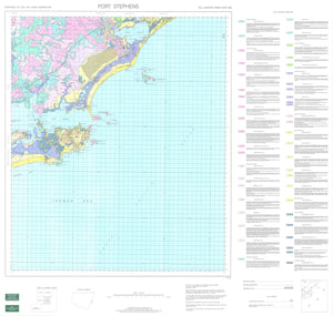 Soil Landscapes of the Port Stephens 1:100 000 Sheet map