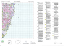 Load image into Gallery viewer, Soil Landscapes of the Coffs Harbour 1:100 000 Sheet map