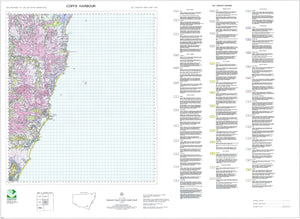 Soil Landscapes of the Coffs Harbour 1:100 000 Sheet map