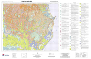 Soil Landscapes of the Lismore-Ballina 1:100 000 Sheets map