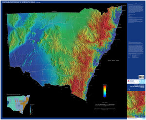 Image of Digital elevation map of New South Wales, 1:1500000  map