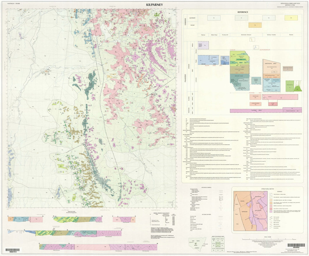 Image of Kilparney 1:100000 Geological map