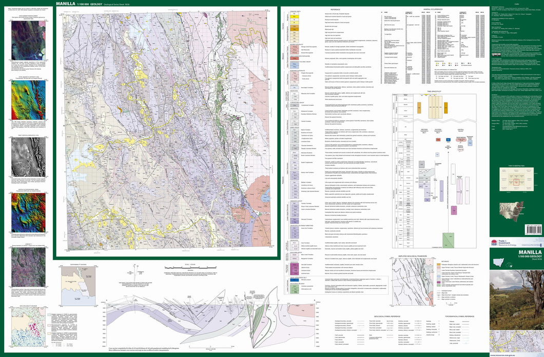 Image of Manilla 1:100000 Geological map