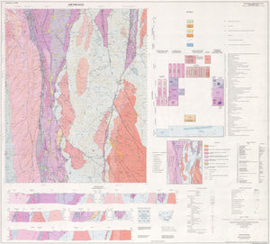 Image of Michelago 1:100000 Geological map