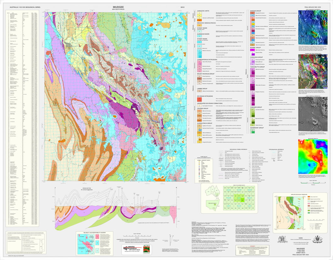 Image of Mudgee 1:100000 Geological map