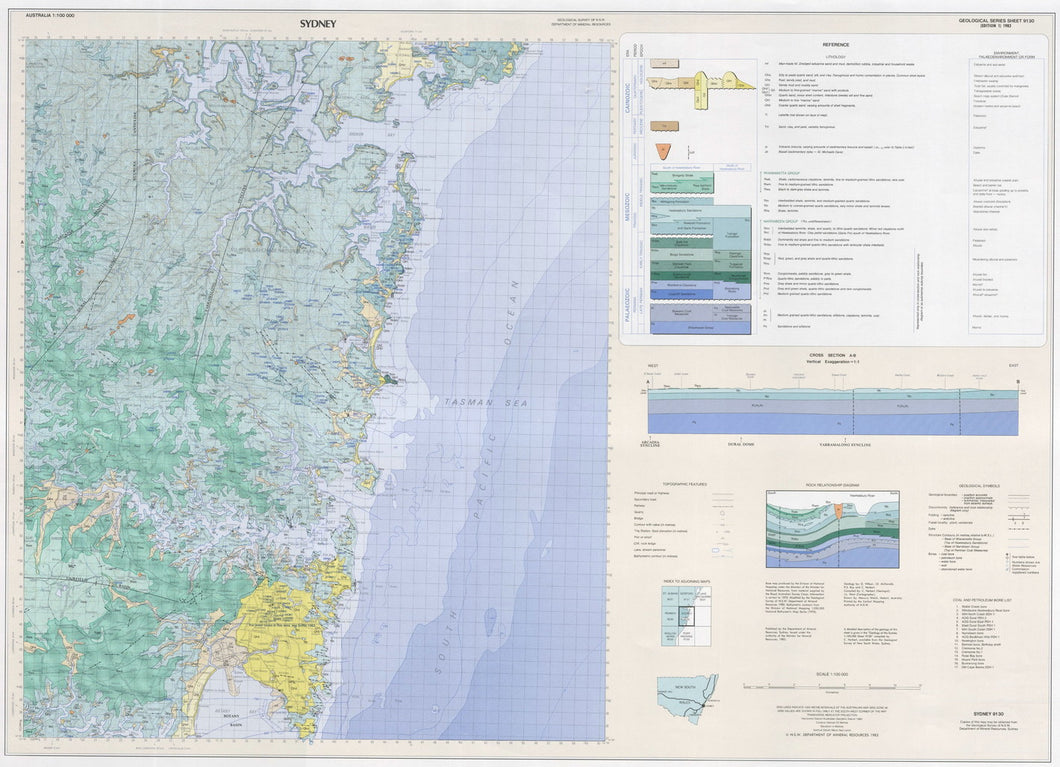 Image of Sydney 1:100000 Geological map