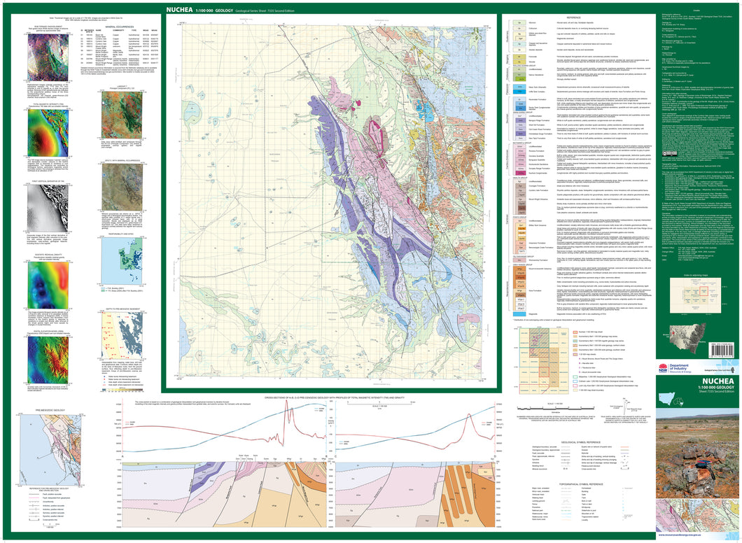 Image of Nuchea 1:100000 Geological map