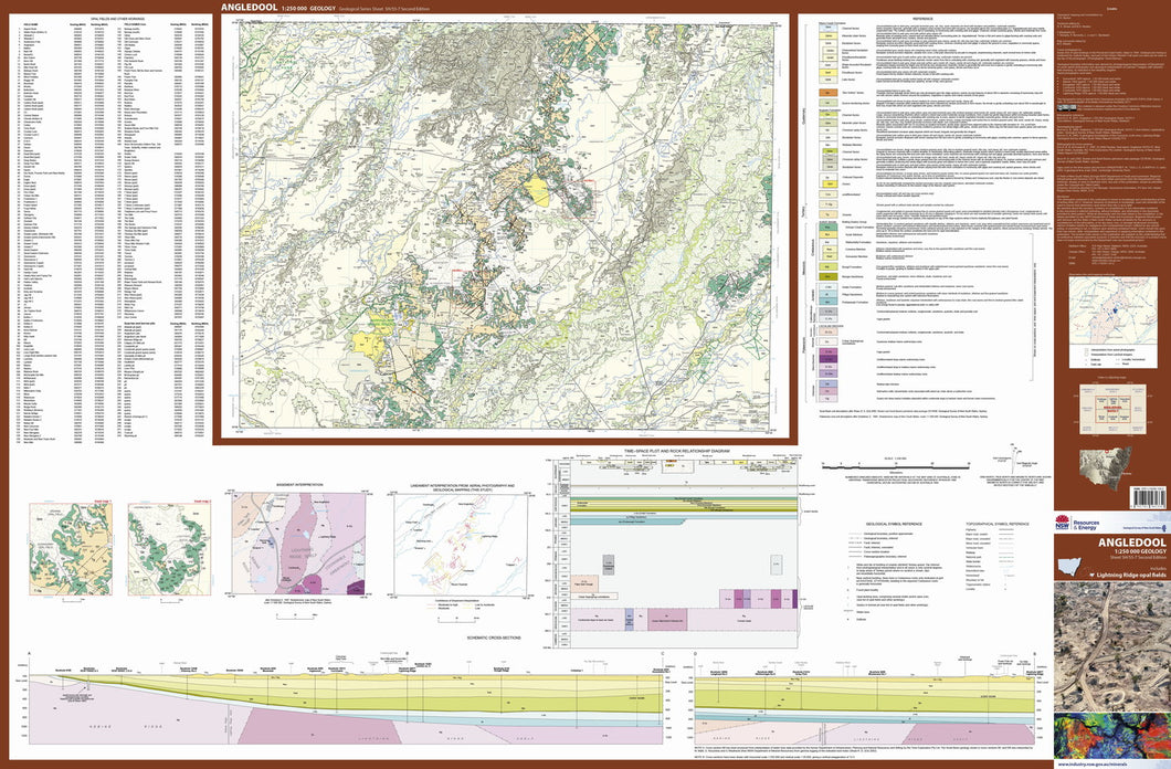 Image of Angledool 1:250000 Geological map
