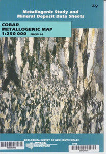 Image of Cobar Metallogenic Map Explanatory Notes 1994 book cover